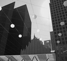 Houston TX Skyline (b/w) by Jacqueline Ison