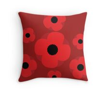Poppy (Red) Throw Pillow