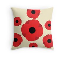Poppy (Cream) Throw Pillow