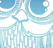 Owl mandala - blue gradient  Sticker
