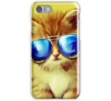 Cute Kitty with Sunglasses iPhone Case/Skin