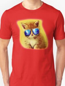 Cute Kitty with Sunglasses Unisex T-Shirt