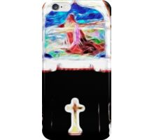 Glowing Cross and Stained Glass iPhone Case/Skin