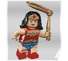 Pixel Wonder Woman Lego  Poster