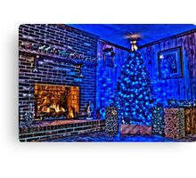 HDR - Christmas Scene with Presents Canvas Print