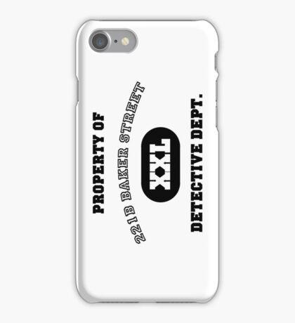 Property of 221B Baker Street - Detective Dept. iPhone Case/Skin