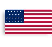 Historical Flags of the United States of America 1819 to 1820 US Flag with 21 Stars and 13 Stripes Canvas Print