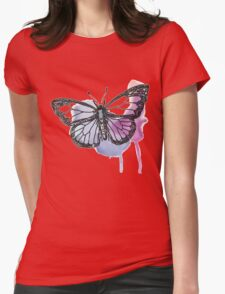 Watercolour Butterfly Womens Fitted T-Shirt