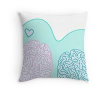 Pastel Brains in Love Throw Pillow