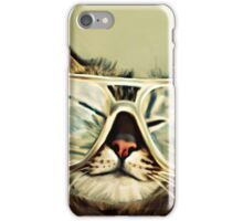 Cute Cat With Glasses iPhone Case/Skin