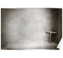 Solitary Cross - Santuario de Chimayo, NM Poster