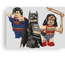 Pixel Super Heroes Lego  Canvas Print