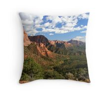 Panoramic View at Kolob Canyons Throw Pillow