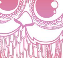 Owl mandala - red pink gradient  Sticker
