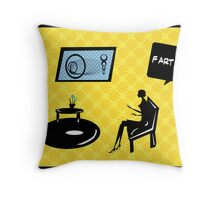 housewife etiquette Throw Pillow