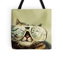 Cute Cat With Glasses Tote Bag