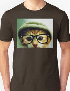 Vintage Cat Wearing Glasses T-Shirt