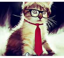 Cute Executive Cat Photographic Print