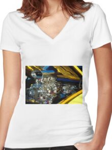 Chromed and Blown Women's Fitted V-Neck T-Shirt