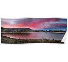 Kolob Reservoir at Sunset Poster