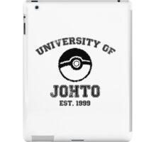 University of Johto iPad Case/Skin