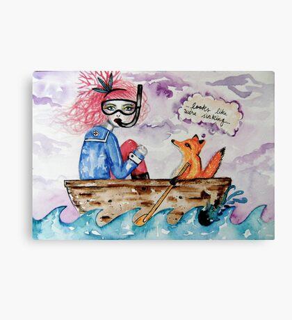 looks like we're sinking Canvas Print