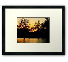 Sunset @ Bayou St. John Framed Print