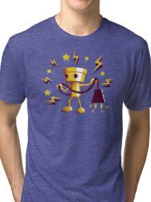 Gold Robo Buddy Tri-blend T-Shirt