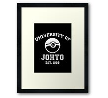 University of Johto Framed Print
