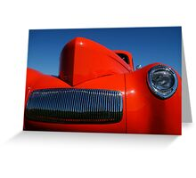 Orange Willys Greeting Card