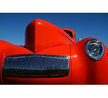 Orange Willys Photographic Print