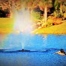 Flight by a fountain by ♥⊱ B. Randi Bailey