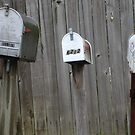 Boycott texting! : the three wating patiently mailboxes.  (Americana series )  by Isa Rodriguez
