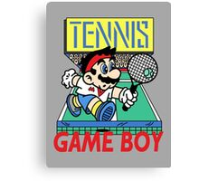 Gameboy Tennis Canvas Print
