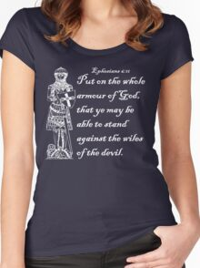 THE WHOLE ARMOUR OF GOD Women's Fitted Scoop T-Shirt