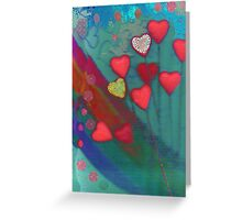 Hearts in the wind Greeting Card