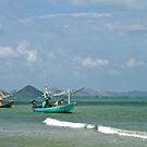 Traditional fishing boats. Hua Hin, Thailand. by johnrf