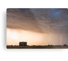 Lightning Striking On The Colorado Prairie Plains Metal Print