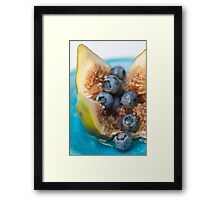 Fig and Blueberries Framed Print