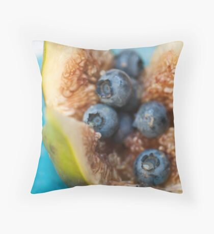 Fig and Blueberries Throw Pillow