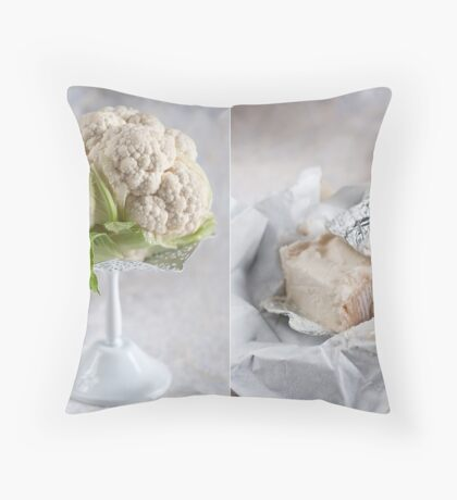 Cauliflower and cheese Throw Pillow