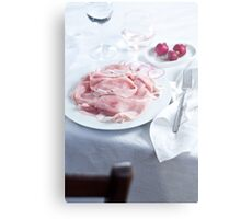 Dinner table Metal Print