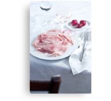 Dinner table Canvas Print
