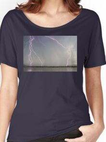 Positive Pink Lightning Strikes Women's Relaxed Fit T-Shirt