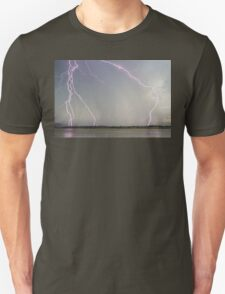 Positive Pink Lightning Strikes T-Shirt