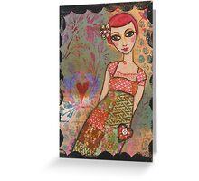 Patchwork dress Greeting Card