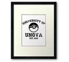 University of Unova Framed Print