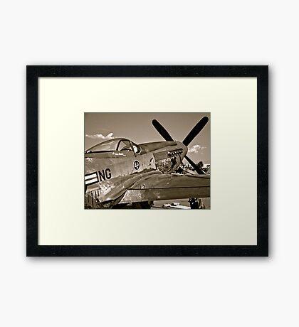 Stang Evil Vintage Mustage Fighter Plane Framed Print