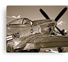 Stang Evil Vintage Mustage Fighter Plane Canvas Print