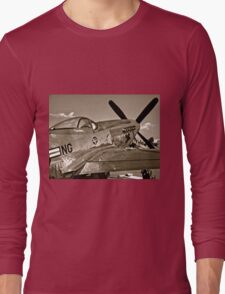Stang Evil Vintage Mustage Fighter Plane Long Sleeve T-Shirt
